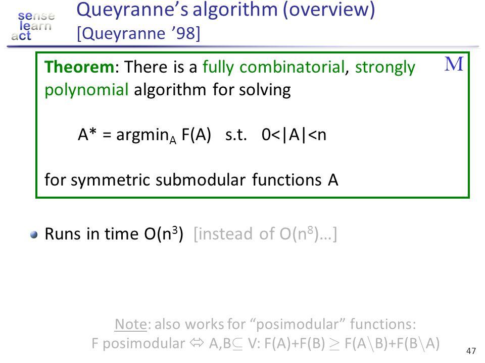 Queyranne's algorithm (overview) [Queyranne '98]